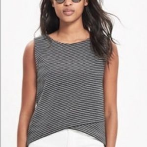 Madewell black & gray crossover top | size xs